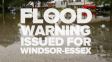 Flood Warning Issued For Wednesday